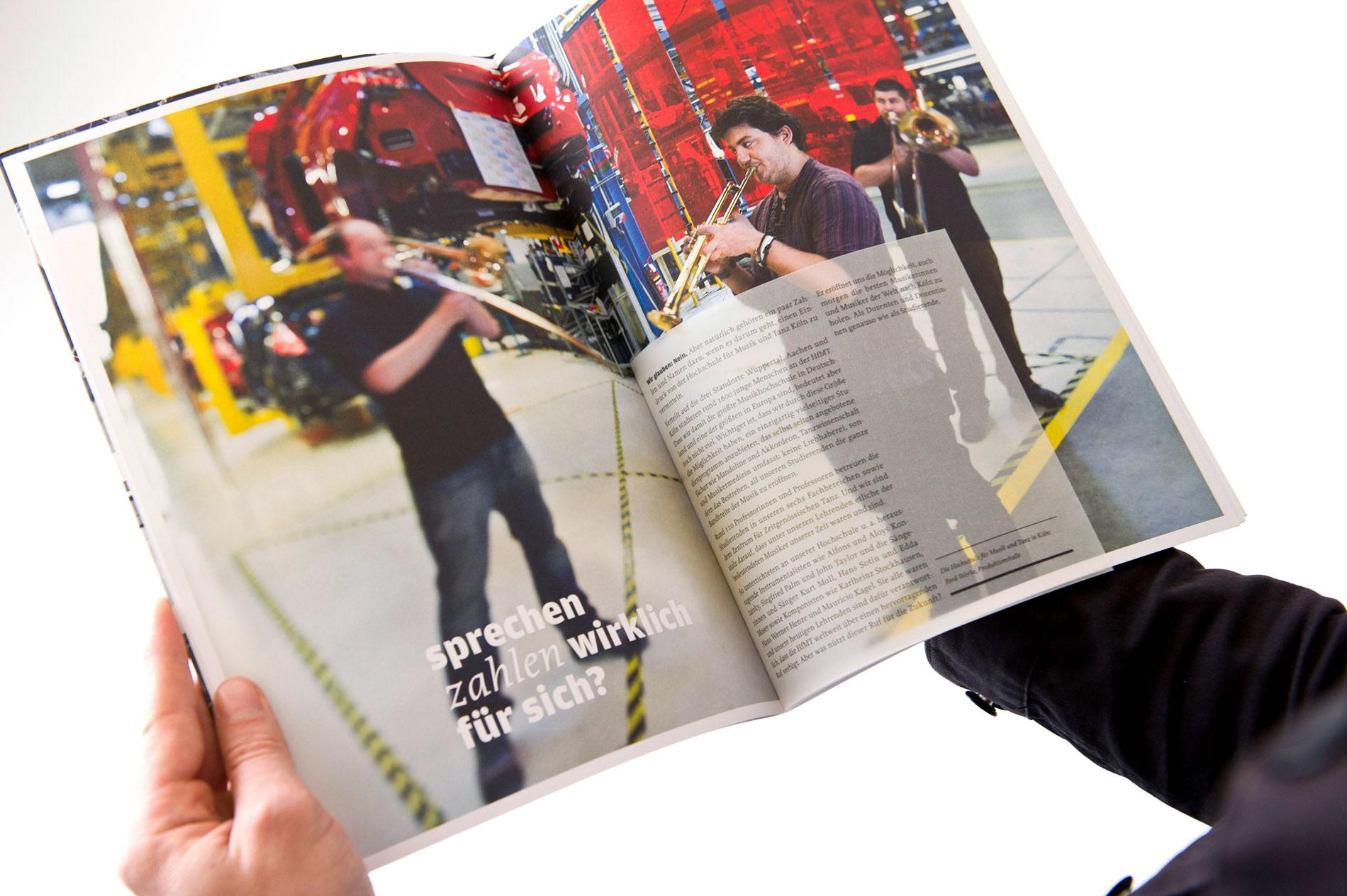 Imagefotografie für die Broschüre der Hochschule für Musik und Tanz ...