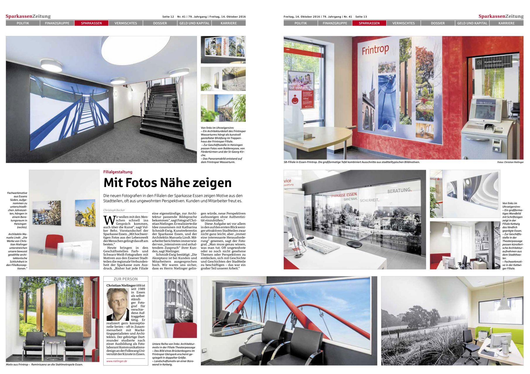 Zeitung, Pressebericht über Christian Nielinger